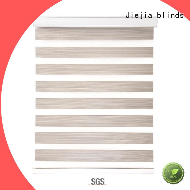 Jiejia Best grey zebra blinds flameproof restaurant