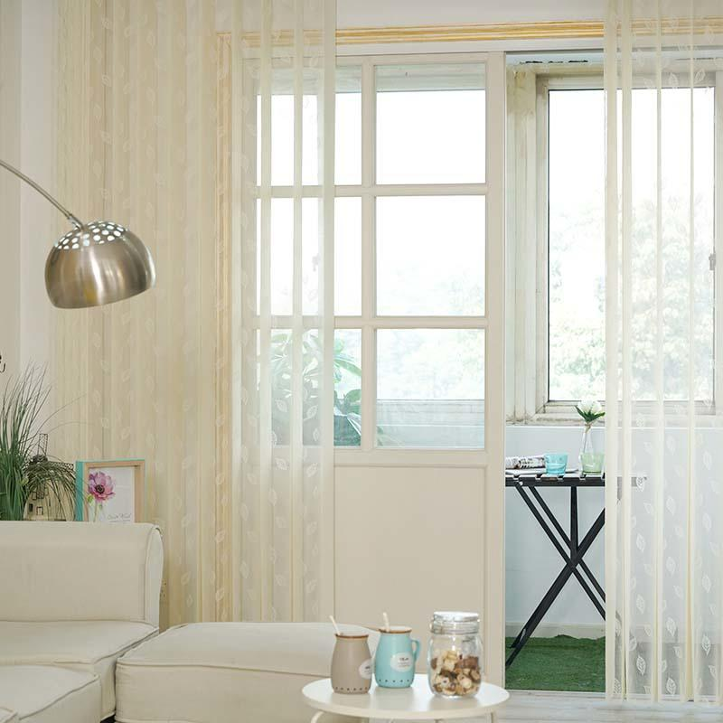 Stardeco Remote Control Leaf Pattern Vertical Blinds On Windows-2