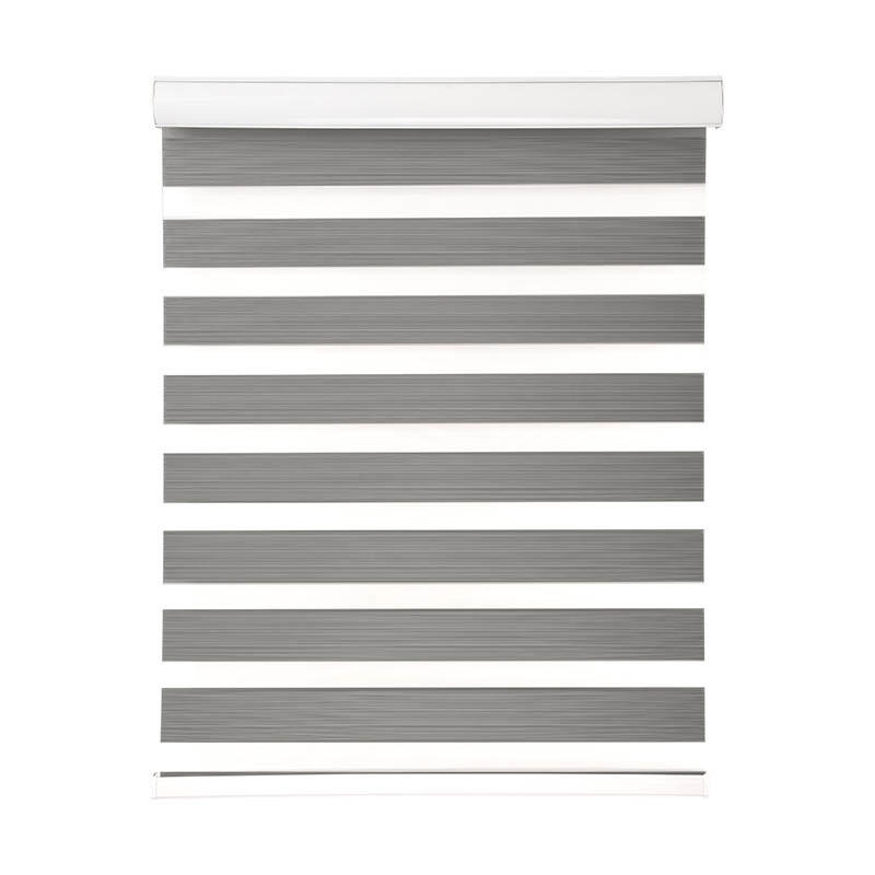 Jiejia double-layer blackout zebra blinds flameproof restaurant-1