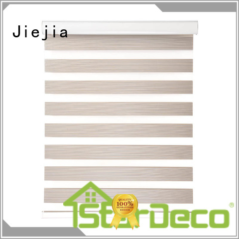 High Quality Blackout Polyester Motorized Rainbow Zebra Blinds Wholesale